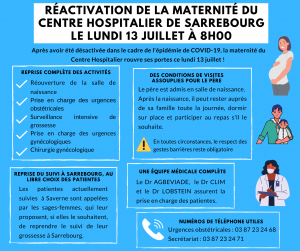 Réactivation de la maternité