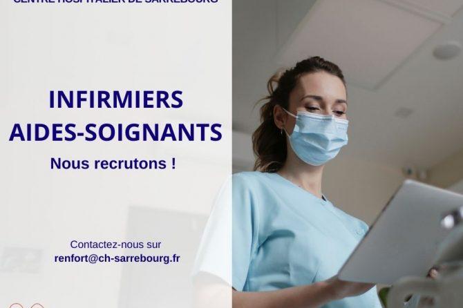 Le Centre Hospitalier de Sarrebourg recrute des infirmiers et aides-soignants